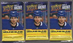 (3)2020-21 UPPER DECK SERIES 2 NHL Guaranteed Young Guns RC HOT PACKS Kaprizov!?