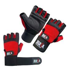 BUKA WEIGHT LIFTING GYM GLOVES BODY BUILDING WORKOUT LEATHER   NEW