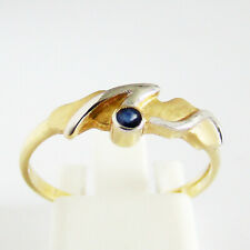 Ring Gold 375er Saphir 9 kt. Bicolor Goldschmuck Saphirring Goldringe Damen