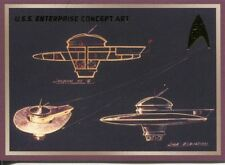 Star Trek 50th Anniversary TOS Enterprise Concept Art Chase Card E2
