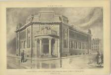 1906 Hackney Central Library First Design H A Crouch Perspective View