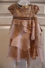 """NWT 18 mos Biscotti dress- """"good as gold lace dress"""" dusty rose"""