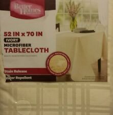 """Better Homes and Gardens Microfiber Table Cloth, Ivory 53""""×70"""""""