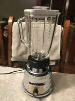 Vintage Oster Osterizer Model 449 Chrome Beehive Blender With Glass Pitcher