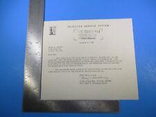 vintage 1950 korean war era selective service system classification letter m4037