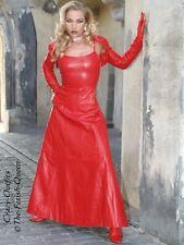 Lederkleid Leder Kleid Abendkleid Rot Maßanfertigung