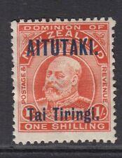AITUTAKI SG12 1914 1/- VERMILION MTD MINT