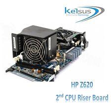 HP Z620 653907-002 647288-001 2nd CPU Riser Board Fan and Heatsink Workstation