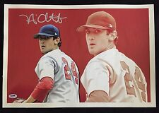 NICK ADENHART ANAHEIM ANGELS SIGNED 13X19 CANVAS LE /50 AUTOGRAPH PSA/DNA COA