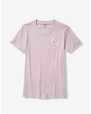 🌺Victoria's Secret Pink Bling Campus Short Sleeve Tee T-Shirt Lilac Top XS 🌺