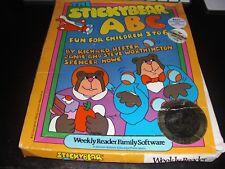 StickyBear ABC Atari 8-bit 400/800/XL+Commodore C64 Computer Game CIB
