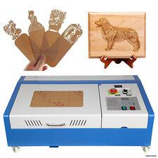 40W CO2 Laser Engraving Cutting Machine Engraver Cutter DIY USB Port w/ Wheels