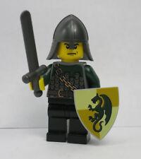 Lego Classic Castle BLACK dragon Knight minifigure figure shield axe 6085 guard