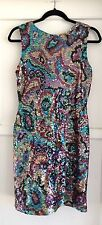 Vintage Oleg Cassini Multi Color Sequin Dress Size 'M' Medium Knee Length Party
