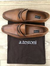Beautiful Classic a.testoni Men Leather Shoes in Brown Size 8.5 M