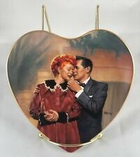 """1997 I Love Lucy-Heart Shaped Plate-Hamilton Collection-""""We're Having A Baby�"""
