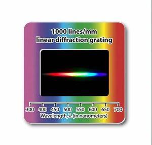 Beugungsgitter Linear Diffraction Grating Slide Optisches Gitter 1000 lines/mm
