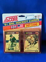 1991 NHL Hockey Cards Score 101 Pack Hot Card 91 Wayne Gretzky?