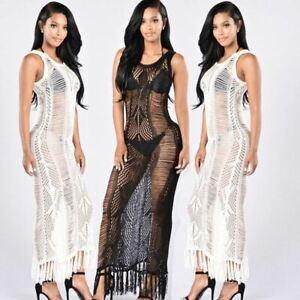 Hot Gown Mesh Sheer Maxi Full Length Lingerie See Through Nightwear Dressing