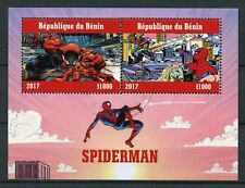 Benin 2017 CTO Spiderman Marvel Peter Parker 2v M/S II Superheroes Comics Stamps
