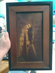 The Painting The Bookworm By Carl Spitweg Great Condition it looks very rare