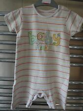 Baby playsuit rompa age 12-18 months - summer outfit striped 'baby face'