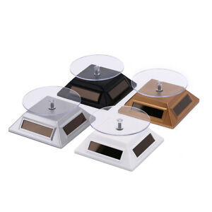 360° Rotating Turntable Jewelry Display Stand - Solar or AAA Battery Powered UK