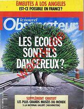 Le nouvel observateur 1435 07/05/1992 Écologie Émeutes Los Angeles Cannes cinéma