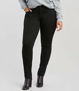 LEVI'S 711 PLUS SIZE BLACK SKINNY Jeans Women's, Authentic BRAND NEW (362550000)