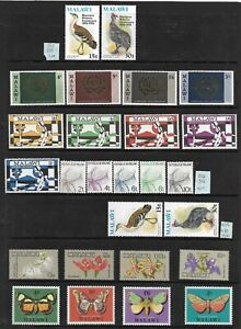 MALAWI 1968-84 COLLECTION OF MNH SETS & M/SHEETS. 85 STAMPS,15 M/SHEETS. (1526)