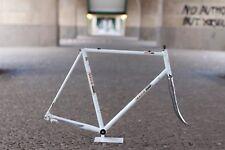 Gios Compact Frame + Fork / 58 cm / white / Rennrad Rahmen Evolution Record