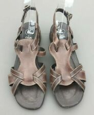 Clarks K Ladies Sandal 6 Brown Gladiator Flat Strappy Summer Holiday Casual 39.5