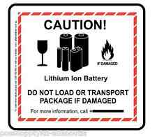 150 x Caution! Lithium Ion Battery  - Premium Gloss Paper Label