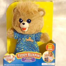 Teddy Ruxpin Hug N Sing Interactive Stuffed Bear Toy Lullaby