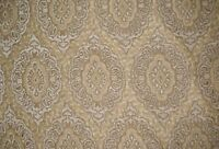 "Chenille Natural Oval Upholstery Drapery home soafa fabric by the yard 57"" Wide"