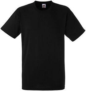 Tee-shirt Fruit Of The Loom noir HEAVY-T 100% coton - SC61212