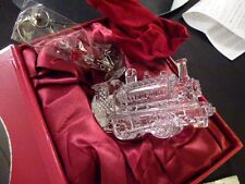 2013 Waterford Train Engine Crystal Christmas Ornament 160066 Decoration New