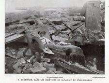 82 MONTAUBAN VILLEBOURBON SAPIAC CHIEN GARDIEN DES RUINES IMAGE 1930 OLD PRINT