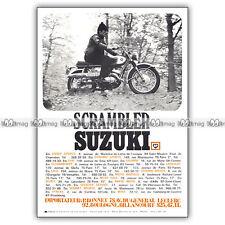 PUB SUZUKI T20 SCRAMBLER T 20 - Original Advert / Publicité Moto 1969
