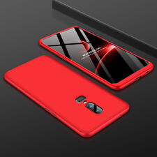 For Oneplus 6 Shockproof 360° Full Protective Hybrid Case + Tempered Glass Cover