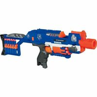 NERF N-STRIKE ELITE STOCKADE BLASTER - ONLY USED ONCE #1