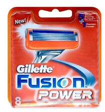 Gillette Fusion Power Razor Blades 8 pack - NEW, SEALED, FREE P&P! Genuine (G2)