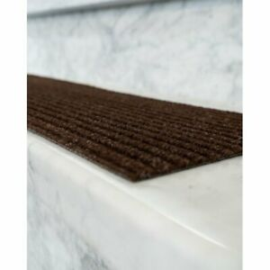 Natural Area Rugs Halton Polyester Chocolate, Stair Treads Carpet, Set of 13