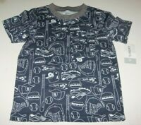 NWT CARTER'S Boys 3T BASEBALL THEME  Sports Game Blue Short Sleeves 100% Cotton
