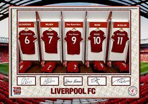 LFC - Liverpool FC - Personalised  ORIGINAL A4 Signed PHOTO PRINT MEMORABILIA