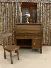 Dollhouse Miniature 1:12 Roll Top Desk & Chair Vintage, New In Box