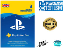 PlayStation Plus 3 Month (90 Days) PSN Network Card - UK Store PS3/PS4/PSvita