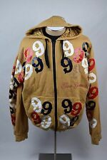 Gino Green Global Throwback Brown Multi Color 9's Zip up Hoodie Men's Size 2XL