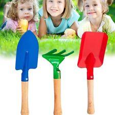 3pcs Junior Kids Garden Tools Sets Kit Trowel Rake Shovel Gardening Supplies a