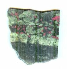 #1-27 Ruby In Zosite Slab For Cabochons - India
